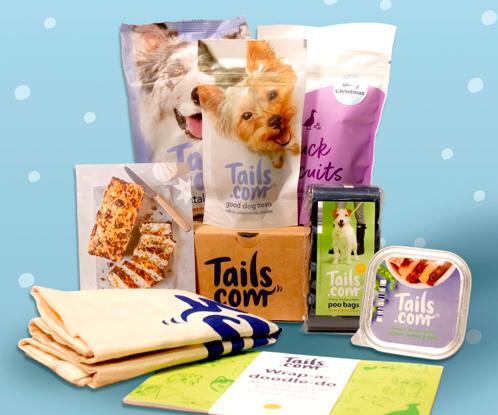 Tails.com Christmas treat selection box